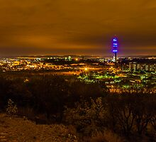Cloudy night sky over Pretoria by Rudi Venter
