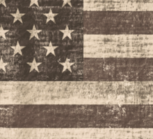 Vintage American Flag Sticker