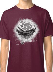 Vintage Black and White Rose Fine Art Classic T-Shirt