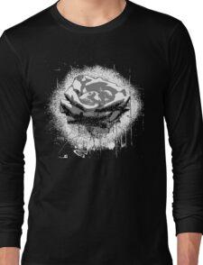 Vintage Black and White Rose Fine Art Long Sleeve T-Shirt