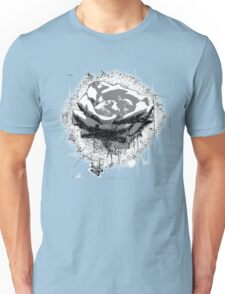 Vintage Black and White Rose Fine Art Unisex T-Shirt