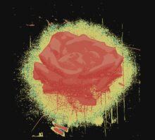 Vintage Red Rose Fine Art Tshirt Kids Tee