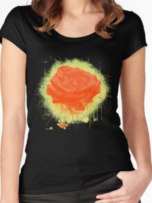 Vintage Red Rose Fine Art Tshirt Women's Fitted Scoop T-Shirt