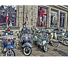 Mod scooters and 60s fashion Photographic Print