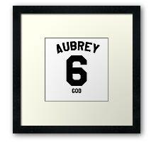 "Drake Jersey ""Aubrey"" Framed Print"