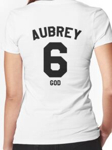 "Drake Jersey ""Aubrey"" Women's Fitted V-Neck T-Shirt"