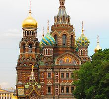 Tourist Season near Church of the Saviour on the Blood by M-EK