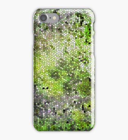 Stained Glass Effect (green) iPhone Case/Skin