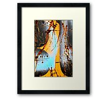 B - Blue - U Framed Print