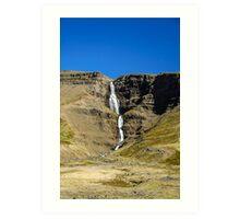 Waterfall in Hellnagil Art Print