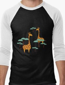 Giraffes Men's Baseball ¾ T-Shirt