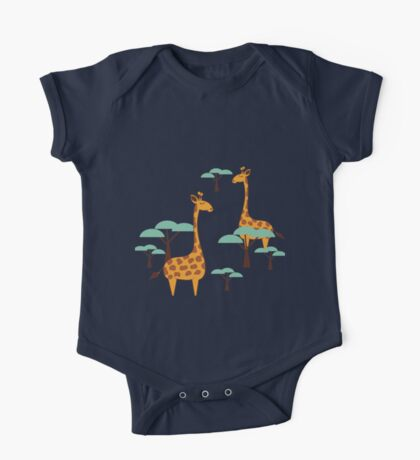 Giraffes One Piece - Short Sleeve