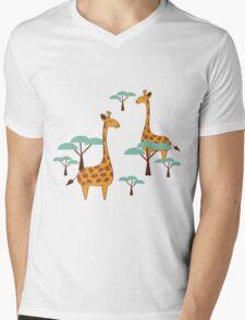Giraffes Mens V-Neck T-Shirt