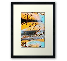 Yellow Black Yellow Black Blue Framed Print
