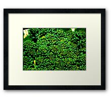 Being Broccoli Framed Print
