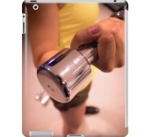 Sporty athletic woman in training iPad Case/Skin