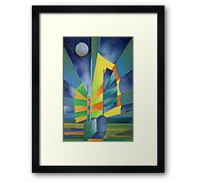 Junk By The Light Of The Silvery Moon Framed Print