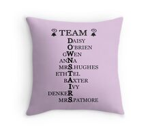 Team Downstairs (Girls) Throw Pillow