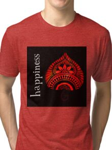 Happiness - Red Tri-blend T-Shirt