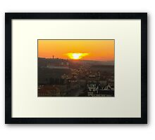 Burning Sun Framed Print