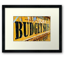 Budget Skips Framed Print