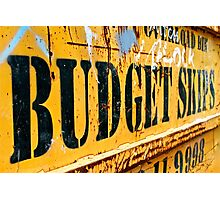 Budget Skips Photographic Print