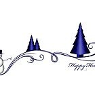 Holiday Card: Snowman by ACImaging