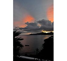 Bay in evening colors Photographic Print