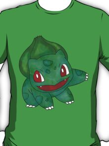 Bulbasaur Leaf Design T-Shirt