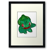 Bulbasaur Leaf Design Framed Print