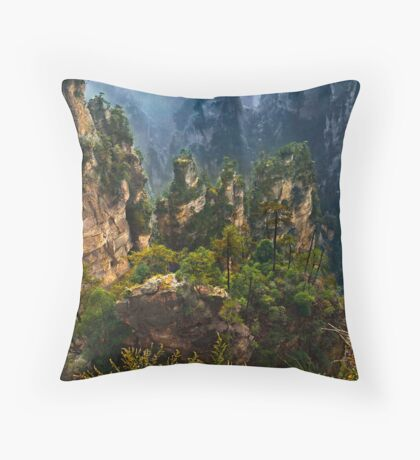 Land of the Immortals Throw Pillow