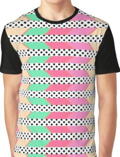 Colorful Hipster Polka Dots Print Zigzag Pattern Graphic T-Shirt