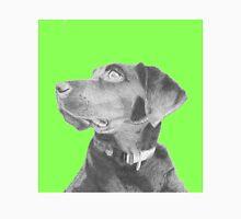 Black Labrador Retriever in Green Headshot Unisex T-Shirt