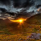 Sunset in the Highlands by Gabor Pozsgai