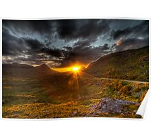 Sunset in the Highlands Poster