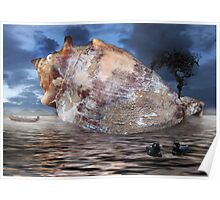 storm tree on shell Poster