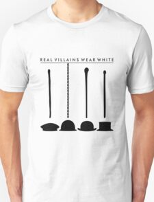 Real Villains Wear White Unisex T-Shirt