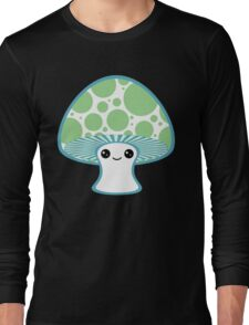 Green Polka Dotted Mushroom Long Sleeve T-Shirt