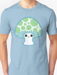 Green Polka Dotted Mushroom Unisex T-Shirt