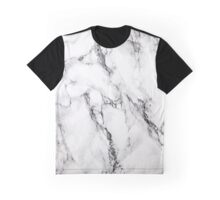 White Marble Stone, Gray Accents Graphic T-Shirt