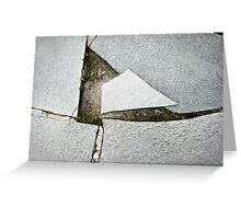 mirror shards ground Greeting Card