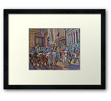 The Running of the Bulls Framed Print