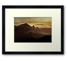 Moody Valley Framed Print