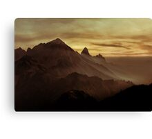 Moody Valley Canvas Print