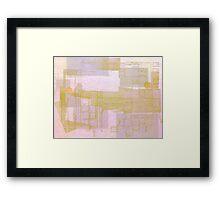 A Circle Amongst Squares Framed Print