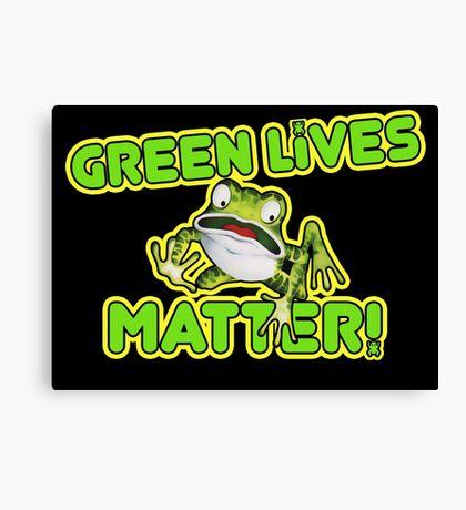Green Lives Matter Canvas Print