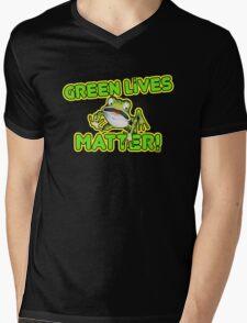 Green Lives Matter Mens V-Neck T-Shirt