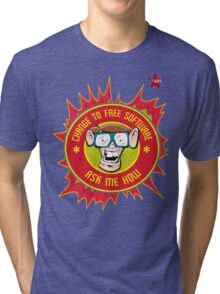 I.T Hero - Use Free Software Tri-blend T-Shirt