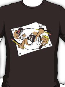 Nostrilympics - on Orange T-Shirt