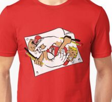 Nostrilympics - on Red Unisex T-Shirt